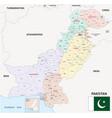 administrative map pakistan vector image