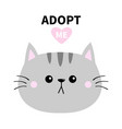 adopt me dont buy gray cat round head silhouette vector image vector image