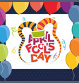 april fools day hat balloons vector image vector image
