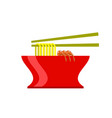 asian food icon vector image vector image