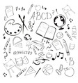back to school design elements vector image vector image