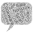 Basic Cookware Explained text background wordcloud vector image vector image