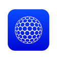 black and white golf ball icon digital blue vector image vector image