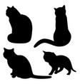black cats silhouettes 1 vector image