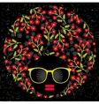 Black head woman with strange hair vector image vector image