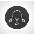 Bracelet black round icon vector image
