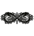 celtic two-headed dragon vector image vector image
