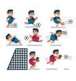 characters soccer game flat icon man cartoon vector image