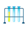 chemistry test tubes composition vector image