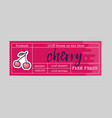 cherry sticker and eco products cherry web vector image vector image