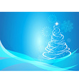 Christmas curve tree background vector image