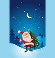 christmas cute cartoon santa claus with christmas vector image vector image