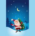 christmas cute cartoon santa claus with christmas vector image