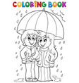 coloring book rainy weather theme 1 vector image vector image