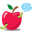 don't eat my house vector image