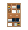 furniture office library bookshelf lamp vector image vector image