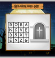 game halloween find the word of tombstone vector image vector image