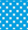 game plan pattern seamless blue vector image