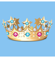 golden crown with pearls Crown vector image