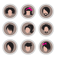 hair pics 3 vector image vector image