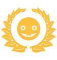 happy emoticon chat symbol vector image vector image