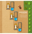 Harvesting top view vector image vector image