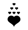 heart icon heart icon black isolated with white vector image vector image