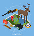 hunting isometric concept
