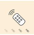 icon of remote control vector image vector image