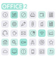 inline office icons collection trendy linear vector image vector image