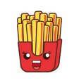 kawaii french fries icon vector image vector image