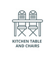 kitchen table and chairs line icon linear vector image vector image
