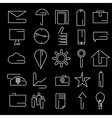 line craft web icons set for business vector image vector image