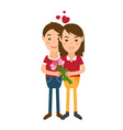 man and woman in flat design vector image vector image