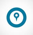map pin bold blue border circle icon vector image vector image