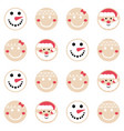 merry christmas gingerbread pattern background set vector image