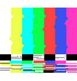 no signal poster tv retro television test pattern vector image