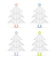 Origami christmas trees vector image vector image