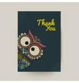 ornamental owl vector image vector image