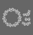 paper crafts set of sunflowers wreath flower vector image
