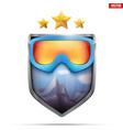 Premium symbol of snowboarding label