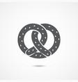pretzel flat icon vector image vector image