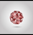 red polygon sphere shape icon vector image vector image