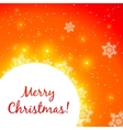 Red shining Christmas greeting card vector image
