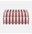 retro awning mockup realistic style vector image vector image