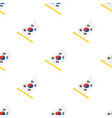 seamless pattern with flags south korea vector image