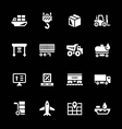 set icons logistic vector image vector image