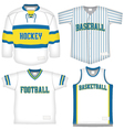 Set of Sports Uniforms vector image