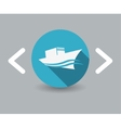 ship icon vector image vector image