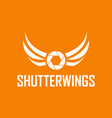 shutter wings photography logo design template vector image